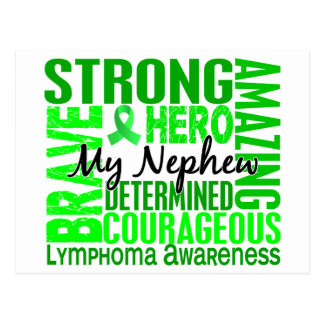 Tribute Square Nephew Lymphoma Postcard