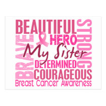 Tribute Square Sister Breast Cancer Postcard