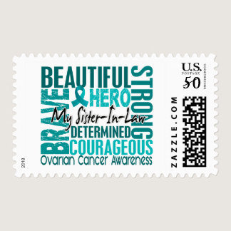 Tribute Square Sister-In-Law Ovarian Cancer Postage