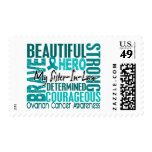 Tribute Square Sister-In-Law Ovarian Cancer Postage Stamp