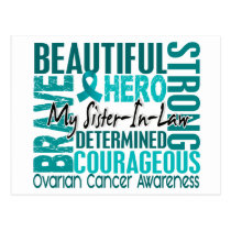 Tribute Square Sister-In-Law Ovarian Cancer Postcard