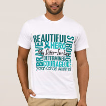 Tribute Square Sister-In-Law Ovarian Cancer T-Shirt