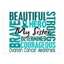 Tribute Square Sister Ovarian Cancer Postcard