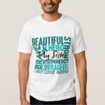 Tribute Square Sister Ovarian Cancer T-shirt