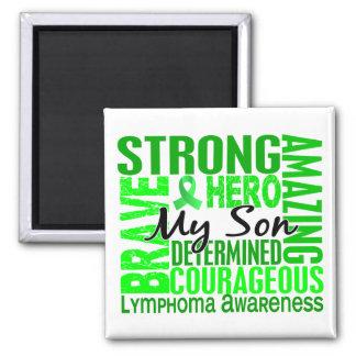Tribute Square Son Lymphoma 2 Inch Square Magnet