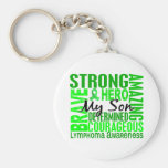 Tribute Square Son Lymphoma Basic Round Button Keychain