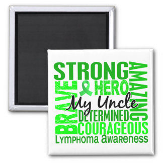 Tribute Square Uncle Lymphoma 2 Inch Square Magnet