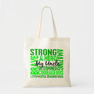 Tribute Square Uncle Lymphoma Tote Bag