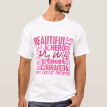 Tribute Square Wife Breast Cancer T-Shirt