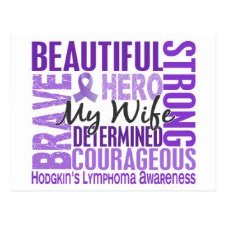 Tribute Square Wife Hodgkins Lymphoma Postcard