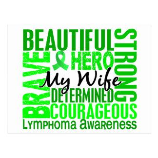 Tribute Square Wife Lymphoma Postcard