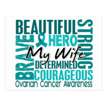 Tribute Square Wife Ovarian Cancer Postcard