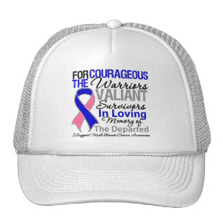 Tribute Support Male Breast Cancer Awareness Mesh Hats