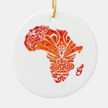 TRIBUTE TO AFRICA Double-Sided CERAMIC ROUND CHRISTMAS ORNAMENT