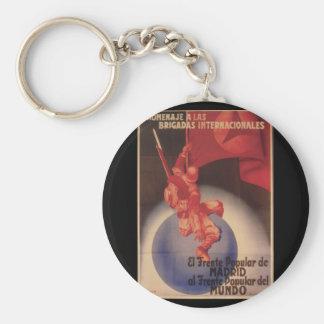 Tribute to International_Propaganda Poster Keychain