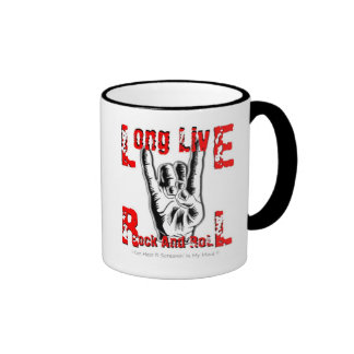 Tribute To Ronnie James Dio (Long Live Rock) Ringer Coffee Mug