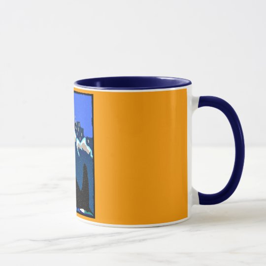 tribute to Ruffles Killer Whale blue and yellow co Mug
