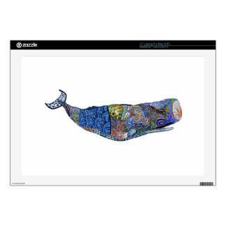"""TRIBUTE TO WHALES 17"""" LAPTOP DECALS"""