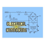 Tributo a la ingeniería eléctrica tarjeta postal
