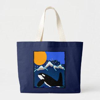 Tributo a los volantes el bolso de compras de la o bolsa de tela grande