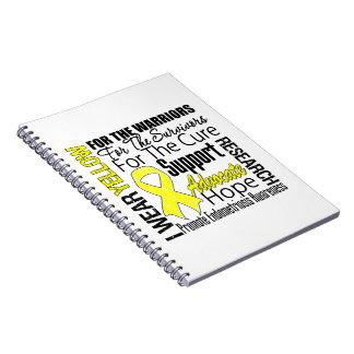 Tributo amarillo de la cinta del desgaste de la libretas