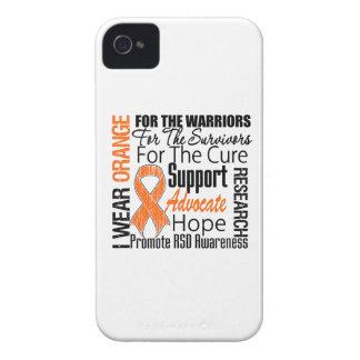 Tributo anaranjado de la cinta del desgaste de RSD iPhone 4 Case-Mate Protectores