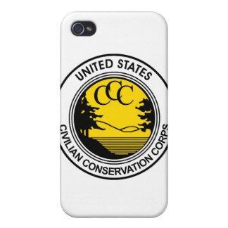 Tributo civil del cuerpo de la protección del CCC iPhone 4/4S Carcasas