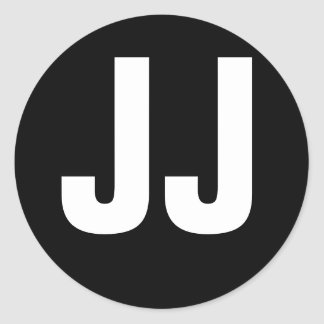 Tributo de JJ Pegatinas Redondas