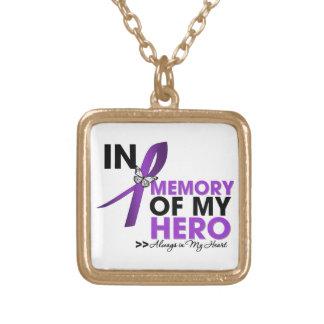 Tributo de la epilepsia en memoria de mi héroe colgante cuadrado