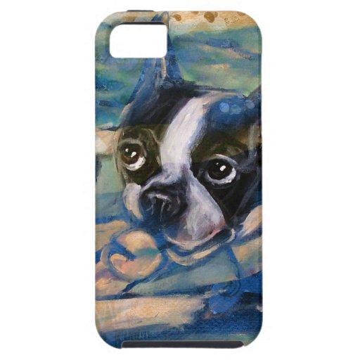 Tributo de la felicidad de Boston Terrier iPhone 5 Coberturas