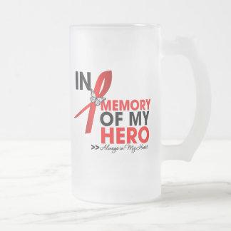 Tributo de la hemofilia en memoria de mi héroe taza
