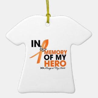 Tributo de la leucemia en memoria de mi Hero.png Adorno De Cerámica En Forma De Playera