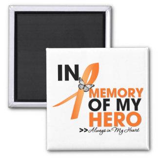 Tributo de la leucemia en memoria de mi Hero.png Imán Cuadrado