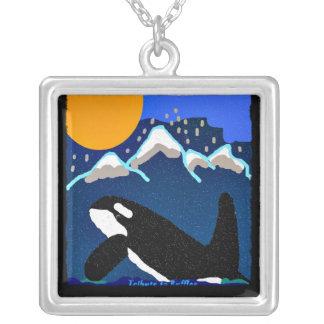 Tributo de la orca al residente meridional de los  colgante cuadrado