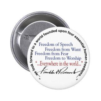 Tributo de las libertades del FDR cuatro Pin