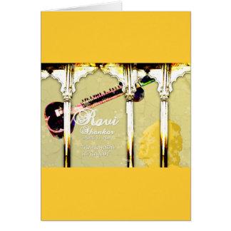 Tributo de Ravi Shankar al Sitar - arcos, música, Tarjeta De Felicitación