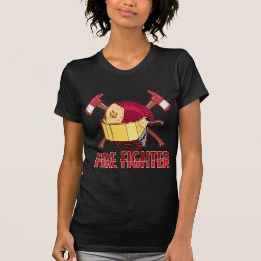 Tributo del bombero camiseta