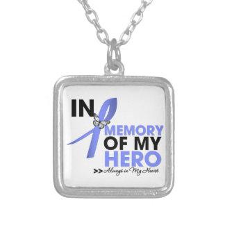 Tributo del cáncer de estómago en memoria de mi hé collares personalizados