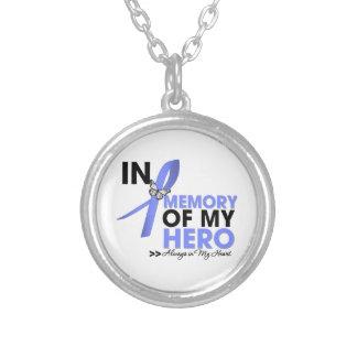 Tributo del cáncer de estómago en memoria de mi hé colgantes personalizados