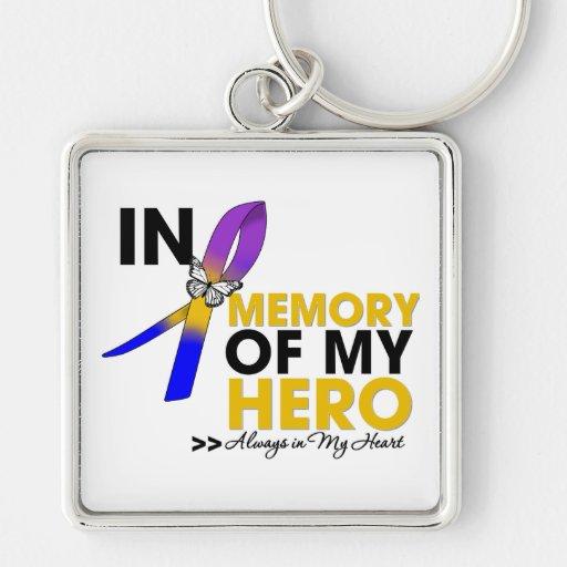 Tributo del cáncer de vejiga en memoria de mi héro llaveros