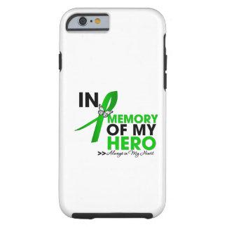 Tributo del cáncer del riñón en memoria de mi funda para iPhone 6 tough