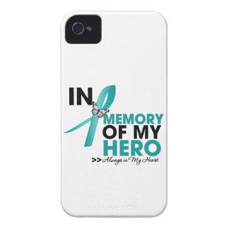 Tributo del cáncer ovárico en memoria de mi héroe iPhone 4 cobertura