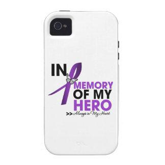 Tributo del cáncer pancreático en memoria de mi vibe iPhone 4 funda