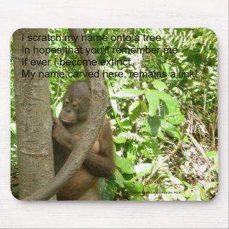 Tributo del día del aprecio del orangután alfombrilla de ratones