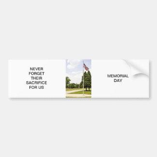 Tributo del día del monumento/de veteranos pegatina para auto