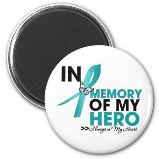 Tributo del escleroderma en memoria de mi héroe imán redondo 5 cm