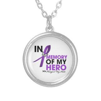 Tributo del Fibromyalgia en memoria de mi héroe Pendientes Personalizados