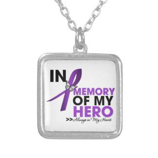Tributo del lupus en memoria de mi héroe colgante cuadrado