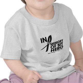 Tributo del melanoma en memoria de mi héroe camiseta