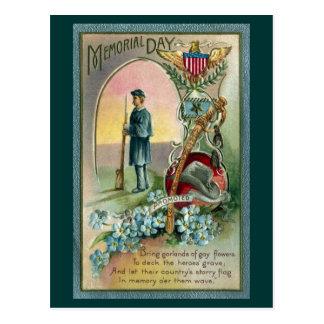 Tributo del Memorial Day del vintage Postal